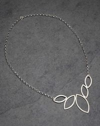 Phase Eight | Multicolor Open Leaf Necklace | Lyst