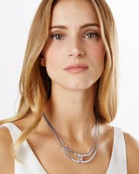 Phase Eight - Gray Kandice Leather Necklace - Lyst