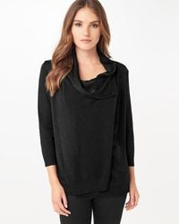 Phase Eight - Black Shimmer Cardigan - Lyst