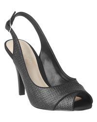 Phase Eight - Natural Rachel Textured Peep Toe Sling Back Shoes - Lyst
