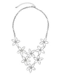 Phase Eight - Metallic Fifi Flower Necklace - Lyst