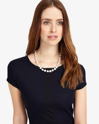 Phase Eight - White Senia Pearl Necklace - Lyst