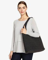 Phase Eight - Black Weave Hobo Bag - Lyst