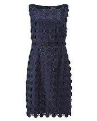 Phase Eight - Blue Violetta Circles Lace Dress - Lyst