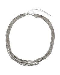 Phase Eight - Metallic Joy Multi Row Necklace - Lyst