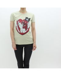 Vivienne Westwood - Multicolor Heart World T Shirt Ocra - Lyst