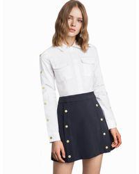 Pixie Market - Multicolor Riley Snap Button Utility Dress - Lyst