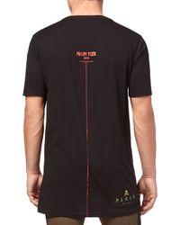 """Philipp Plein - T-shirt Black Cut Round Neck """"daylight"""" for Men - Lyst"""