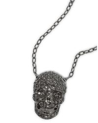 "Philipp Plein - Black Necklace ""so Good"" - Lyst"
