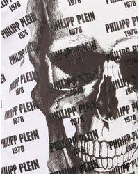 """Philipp Plein - White T-shirt Platinum Cut Round Neck """"my Logic """" for Men - Lyst"""