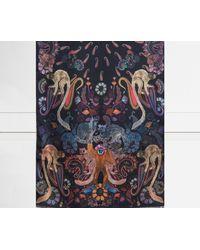 Paul Smith - Monkey Print Silk Scarf Black - Lyst
