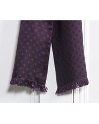 Paul Smith - Purple Diamond Silk Scarf for Men - Lyst