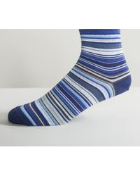 Paul Smith - New Multi Stripe Socks Blue for Men - Lyst