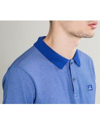 C P Company - Tacting Short Sleeve Polo Royal Blue for Men - Lyst