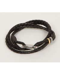 Paul Smith - Multicolor Woven Leather Bracelet Chocolate for Men - Lyst