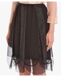 Prada - Black Petal Motif Skirt - Lyst