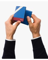 Prada - Blue Saffiano Leather Wallet for Men - Lyst