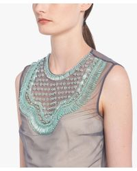 Prada - Multicolor Embroidered Tulle Top - Lyst
