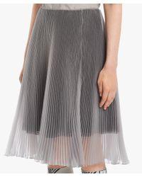 Prada - Gray Pleated Skirt - Lyst