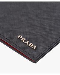 Prada - Black Saffiano Leather Wallet for Men - Lyst