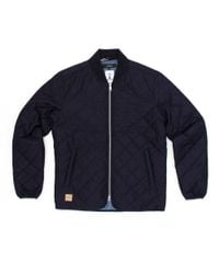 Makia - Blue Quilted Jacket for Men - Lyst