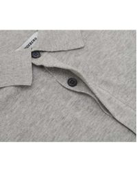 J.Lindeberg - Blue Mikael Cotton Crepe Knit Polo for Men - Lyst