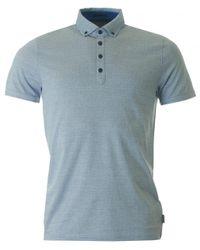 Ted Baker | Blue Tamaso Spot Bd Polo Shirt for Men | Lyst