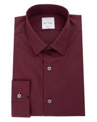 Paul Smith | Purple Kensington Slim Fit Single Cuff Shirt for Men | Lyst