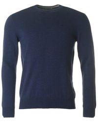 J.Lindeberg - Blue Lyle Crew Neck Knit for Men - Lyst