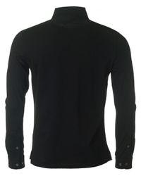 J.Lindeberg - Black Cony Long Sleeved Polo Shirt for Men - Lyst