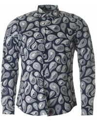 Paul Smith | Blue Tone On Tone Paisley Tailored Fit Shirt for Men | Lyst