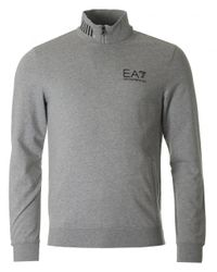 EA7 | Gray Train Core Id Cycling Crew Neck Sweat for Men | Lyst