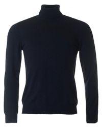J.Lindeberg - Blue Sargon Roll Neck Knit for Men - Lyst