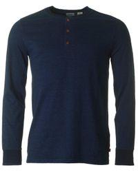Levi's | Blue Briant Henley Sweatshirt for Men | Lyst