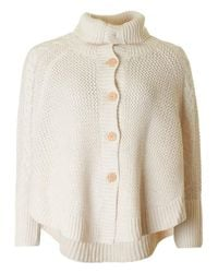 UGG | Natural Cosy Chunky Button Through Poncho | Lyst