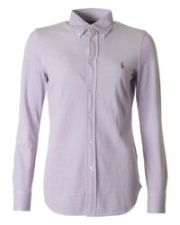 Polo Ralph Lauren | Purple Heidi Pique Button Down Collar Shirt for Men | Lyst