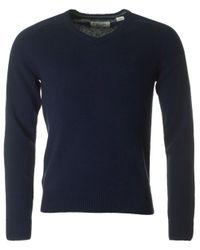 Original Penguin | Blue Hector V Neck Lambswool Knit for Men | Lyst