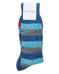 Paul Smith | Blue Space Multi Striped Socks for Men | Lyst