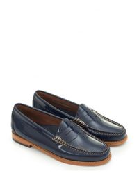 G.H. Bass & Co. - Blue Penny Wheel Patent Leather Loafers - Lyst
