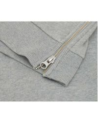 French Connection - Gray Zip Side Logo Sweatshirt - Lyst