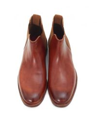 GRENSON | Brown Declan Leather Chelsea Boots for Men | Lyst