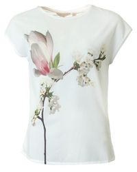 Ted Baker - White Harmony Fitted Tee - Lyst