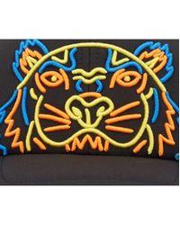 KENZO - Black Neon Tiger Cap for Men - Lyst