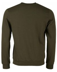 Paul & Shark - Green Embroidered Chest Logo Crew Neck Sweat for Men - Lyst