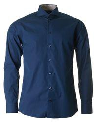 Eton of Sweden - Blue Cut Away Collar Contrast Trim Shirt for Men - Lyst