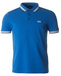 BOSS - Blue Paddy Modern Fit Polo for Men - Lyst
