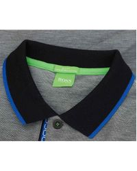 BOSS Green | Black Paule 4 Placket Logo Polo for Men | Lyst