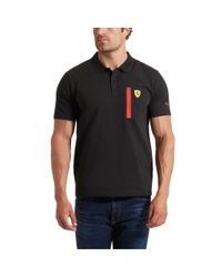 PUMA - Black Ferrari Polo Shirt for Men - Lyst