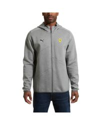 PUMA - Gray Ferrari Men's Hooded Sweat Jacket for Men - Lyst
