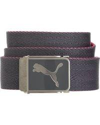 PUMA - Gray Cuadrado Web Golf Belt for Men - Lyst